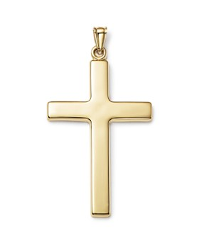 Bloomingdale's - Men's Large Cross Pendant in 14K Yellow Gold - 100% Exclusive