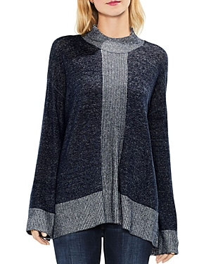 Vince Camuto Draped Mock-Neck Sweater