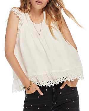 Scotch & Soda  EYELET-TRIM TOP
