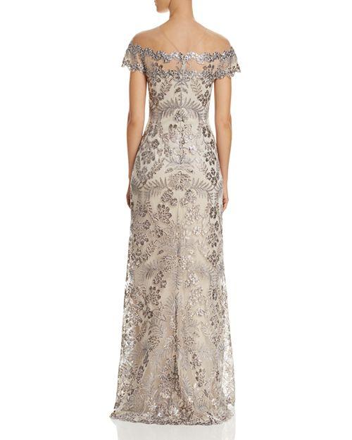 Tadashi Shoji Embellished Illusion Gown   Bloomingdale\'s