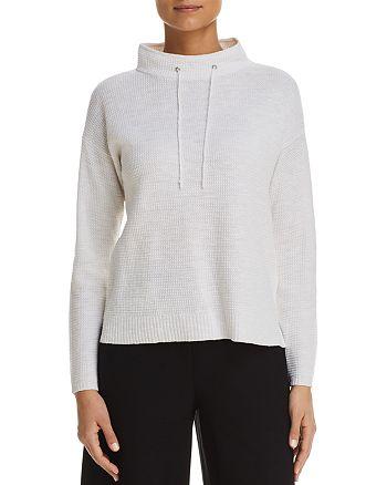 Eileen Fisher Petites - Drawstring-Neck Sweater