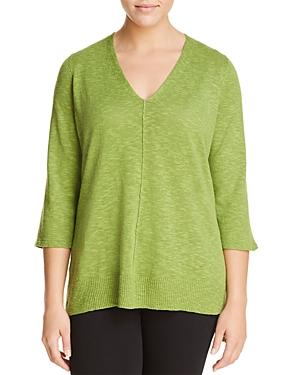 Eileen Fisher Plus Lightweight V-Neck Sweater