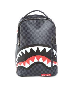 Sprayground Unisex Checkered Sharks in Paris Backpack