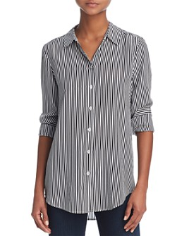 Equipment - Essential Silk Stripe Shirt