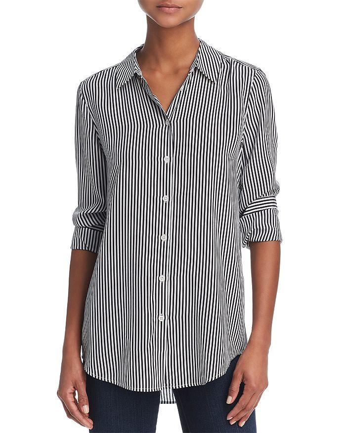 Equipment - Essential Silk Stripe Shirt