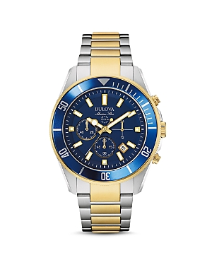 Bulova Marine Chronograph Watch, 43mm