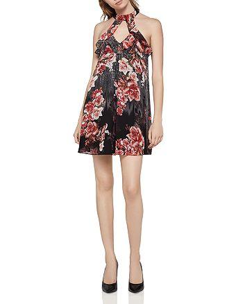 BCBGENERATION - Floral Choker Dress