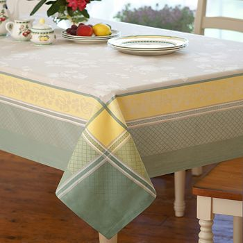 "Villeroy & Boch - Fleurence Jacquard Tablecloth, 63"" x 96"""