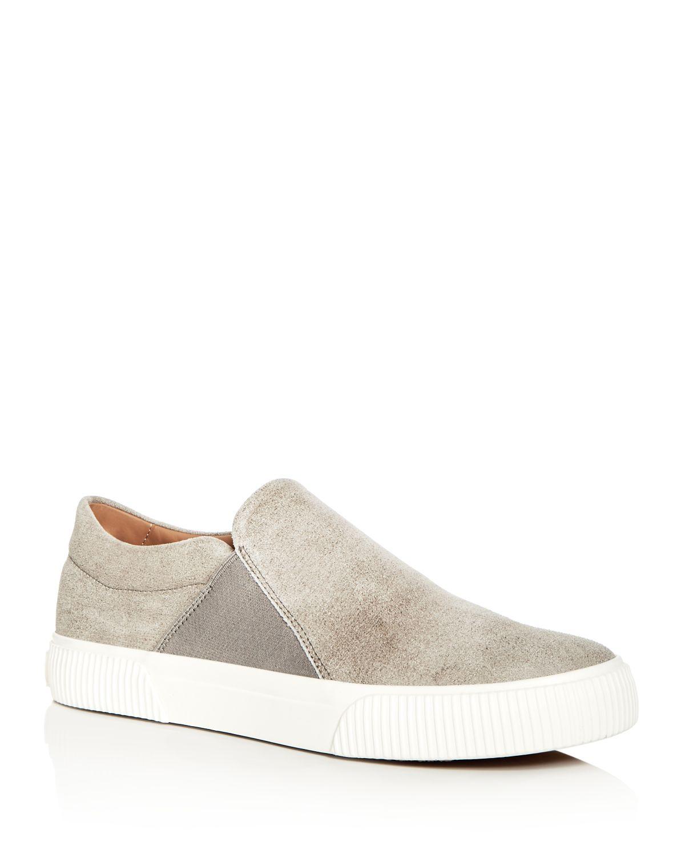 Vince Men's Kelvin Distressed Nubuck Leather Slip-On Sneakers