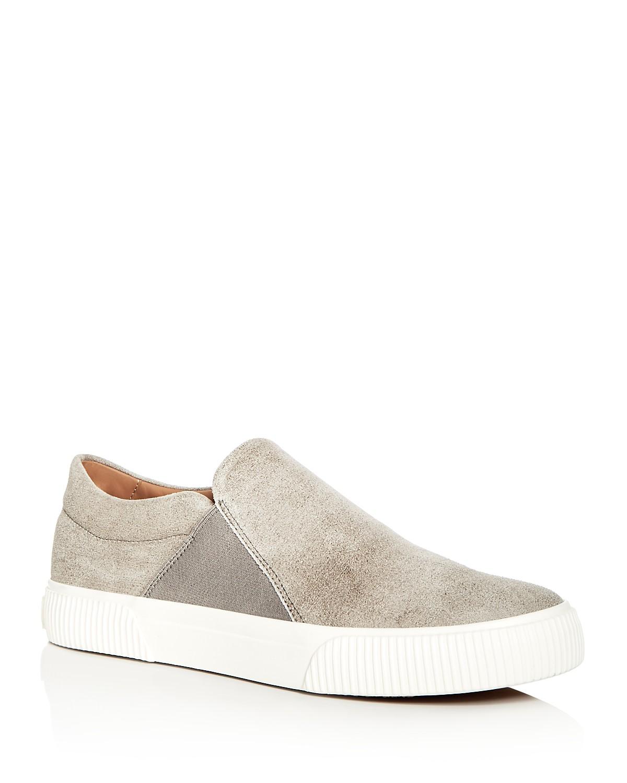 Vince Men's Kelvin Distressed Nubuck Leather Slip-On Sneakers i220uH4Hsm