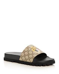 Gucci - Men's GG Supreme St. Tiger Pool Slide Sandals