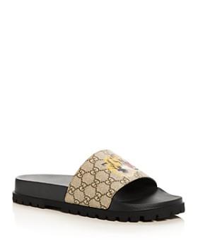436d5a657cd00 Gucci - Men s GG Supreme St. Tiger Pool Slide Sandals ...