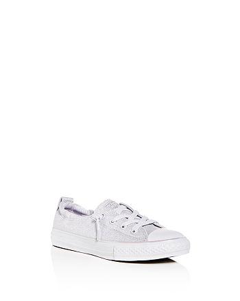 Converse - Girls' Chuck Taylor All Star Shoreline Glitter Slip-On Sneakers - Toddler, Little Kid