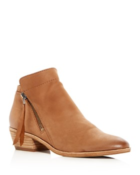 8df95ca90 Sam Edelman - Women s Packer Leather Low Heel Booties ...