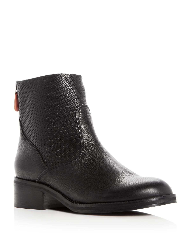 Kenneth Cole Gentle Souls Women's Parker Leather Low Heel Booties