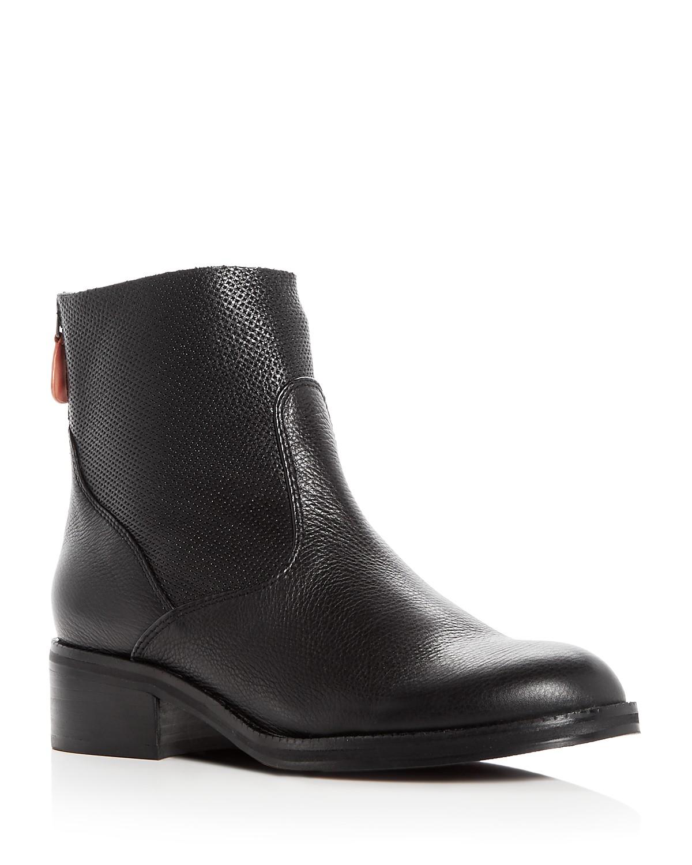 Kenneth Cole Gentle Souls Women's Parker Leather Low Heel Booties wCGkNjWh5
