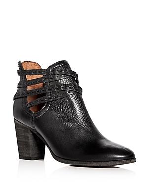 Frye Women's Naomi Pickstitch Leather Strappy Booties