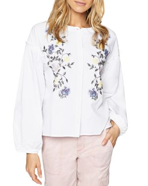 Sanctuary Embroidered-Detail Blouse