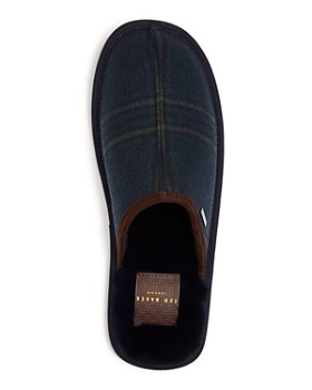 Ted Baker - Men's Youngi Plaid Wool Slippers