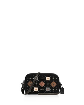 COACH - Prairie Rivets and Snakeskin Leather Crossbody