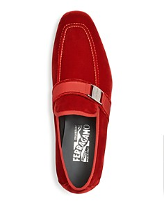 Salvatore Ferragamo - Men's Danny 2 Velvet Apron Toe Loafers