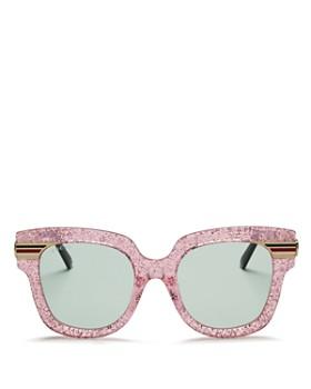 Gucci - Women's Glitter Oversized Square Sunglasses, 51mm