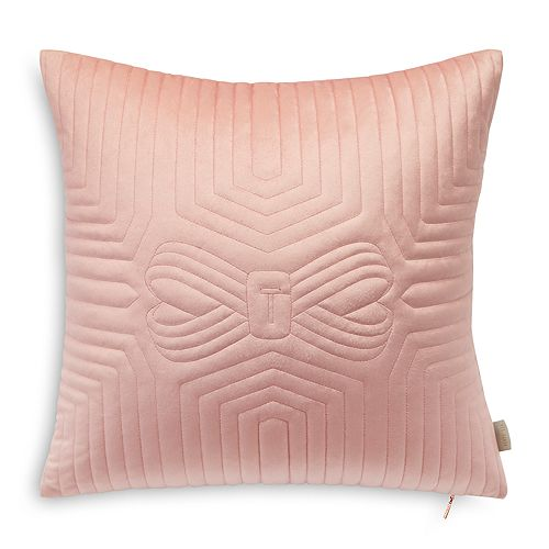 """Ted Baker - Quilted Velvet Decorative Pillow, 18"""" x 18"""""""