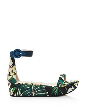 Stuart Weitzman - Women's Capri Printed Jacquard Platform Ankle Strap Sandals - 100% Exclusive