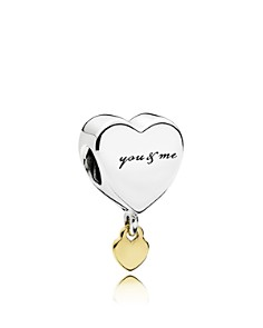 PANDORA - Sterling Silver and 14k Gold Heart Charm