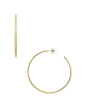 Nadri Railed Pave Hoop Earrings