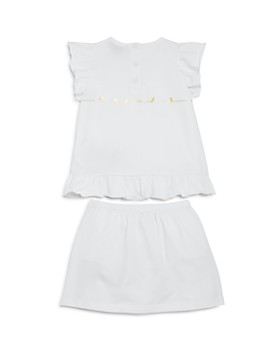 Armani Junior - Girls' Bird-Print Logo Top & Skirt with Bloomers Set - Baby