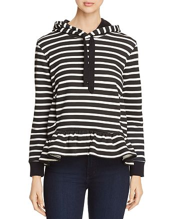 kate spade new york - Striped Fleece Hoodie