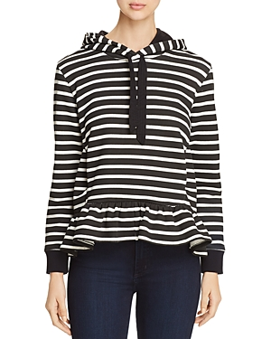 kate spade new york Striped Fleece Hoodie