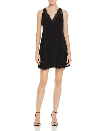BCBGMAXAZRIA - Lace-Trimmed Mini Dress