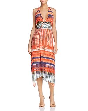 Ramy Brook Printed Elia Faux-Wrap Dress