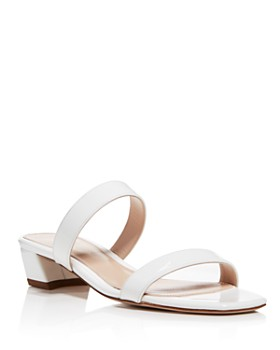 Stuart Weitzman - Women's Ava Patent Leather Slide Sandals