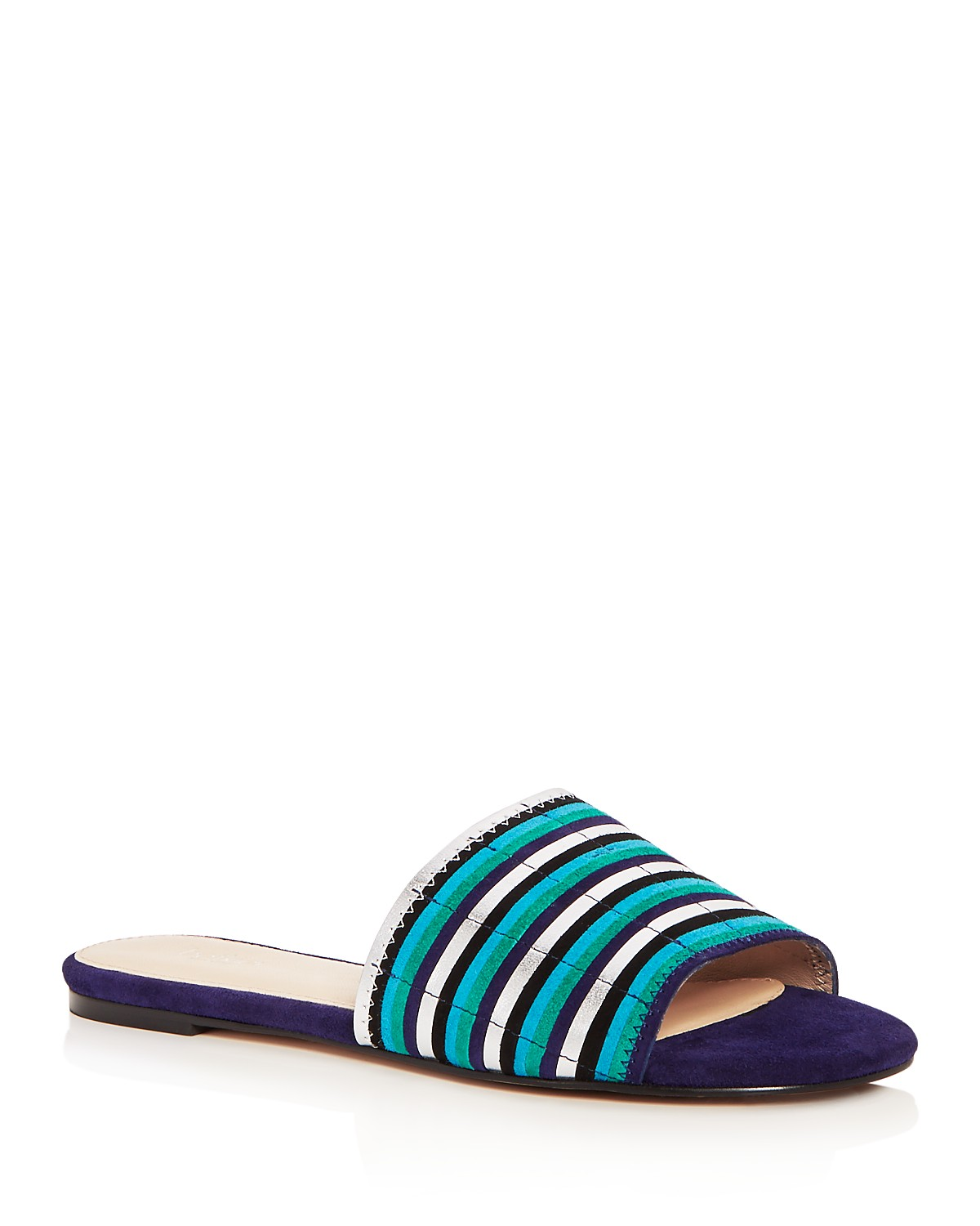 Buy Cheap New Styles Botkier Women's Marley Leather Stripe Slide Sandals High Quality Fake For Sale Exclusive Online eiSp9Zs