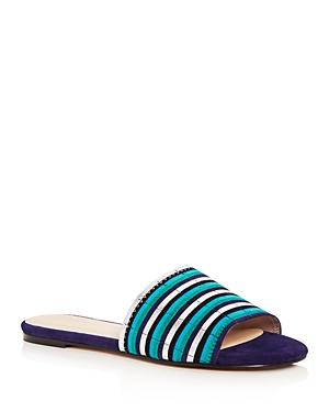 Botkier Women's Marley Suede Stripe Slide Sandals
