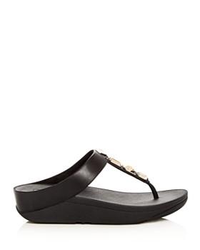 FitFlop - Women's Roka Embellished Platform Thong Sandals