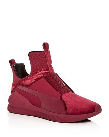 33d703b6778 PUMA - Women s Fierce Velvet Slip-On Sneakers