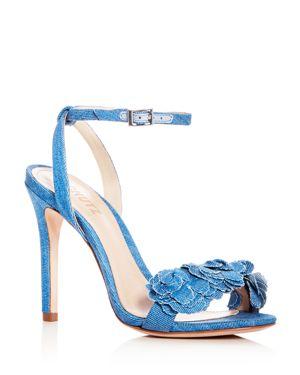 Schutz Women's Aida Denim Ankle Strap Sandals