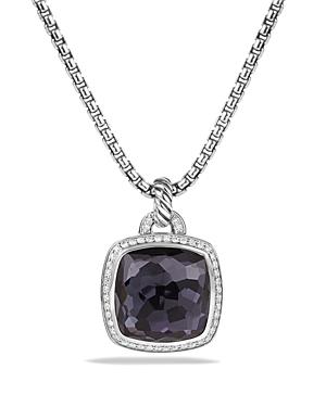 David Yurman Albion Pendant with Black Orchid & Diamonds