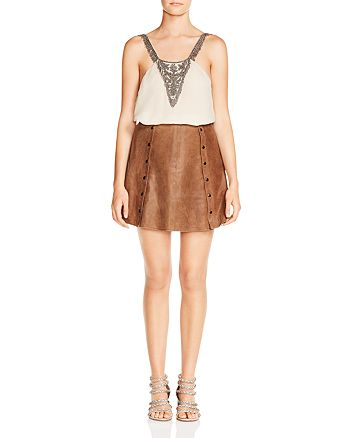 Haute Hippie - Crystal Ball Beaded Silk Cami