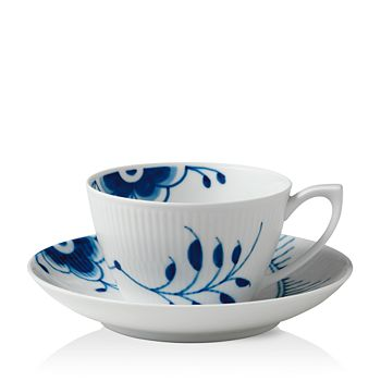 Royal Copenhagen - Blue Fluted Mega Tea Cup & Saucer
