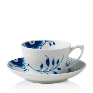 Royal Copenhagen Blue Fluted Mega Tea Cup & Saucer