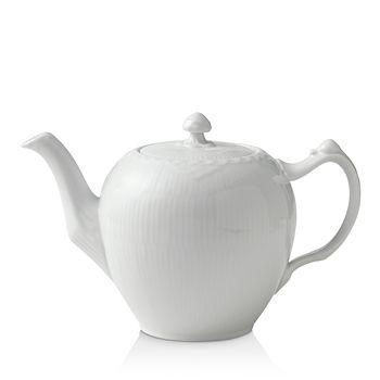 Royal Copenhagen - White Fluted Half Lace Tea Pot