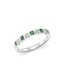 Bloomingdale's - Tsavorite & Diamond Band in 14K White Gold - 100% Exclusive