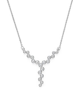 Bloomingdale's - Diamond Bezel Y Necklace in 14K White Gold, 0.50 ct. t.w. - 100% Exclusive