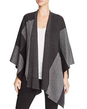 Eileen Fisher Merino Wool Color Block Serape at Bloomingdale's