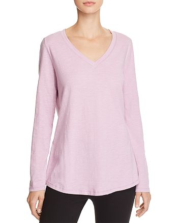 Eileen Fisher - Organic-Cotton V-Neck Tee